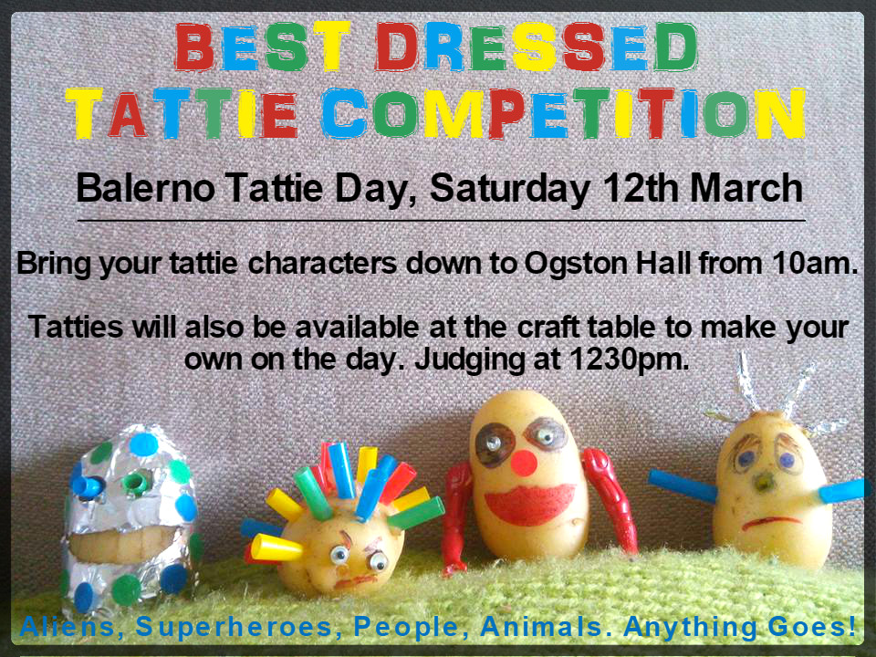 best dressed tattie competition  saturday 12th march